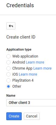 クライアント ID のスクリーンショットを作成する