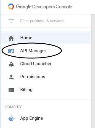 API Manager を選択する