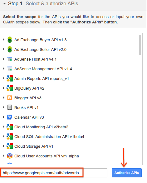 authorize apis