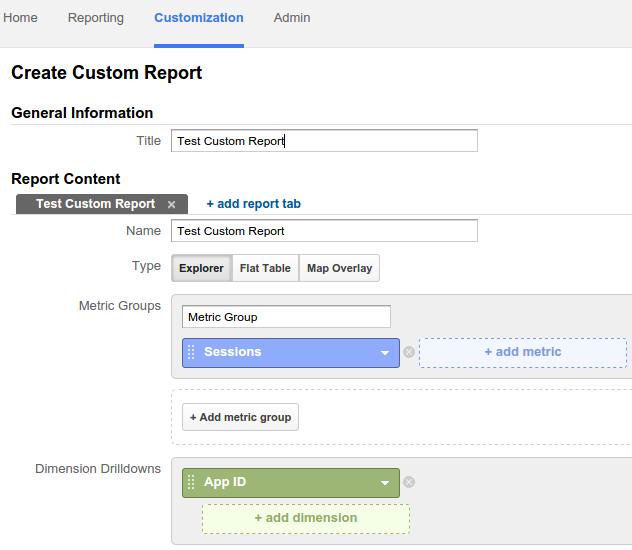 criar relatório personalizado