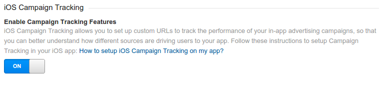 iOS campaign tracking