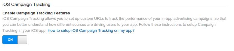 Seguimiento de campañas para iOS