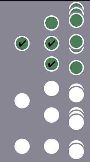 3 人のユーザーのうち、1 番目のユーザーとその全セッションがセグメントに含まれます(ユーザーレベルとセッション レベルの条件に 1 人のユーザーが一致したため)。他の 2 人のユーザーとそのセッションは除外されます。