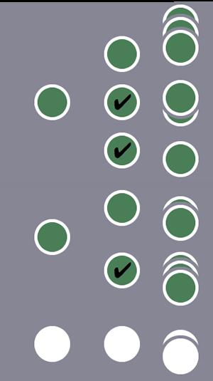 3 人のユーザーのうち、1 番目と 2 番目のユーザーとその全セッションがセグメントに含まれます(1 番目のユーザーはセッション レベルの条件に複数のセッションが一致し、2 番目のユーザーはセッション レベルの条件に 1 つのセッションが一致したため)。残りのユーザーとそのセッションは除外されます。
