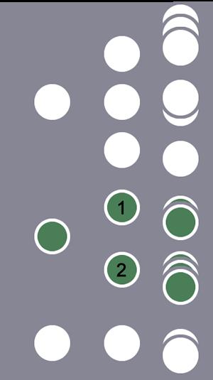 3 位用户中,由于第 2 位用户满足会话级步骤顺序条件(不能存在中间步骤),此用户及其所有会话都包含在细分中。另 1 位用户及其会话被排除在外。