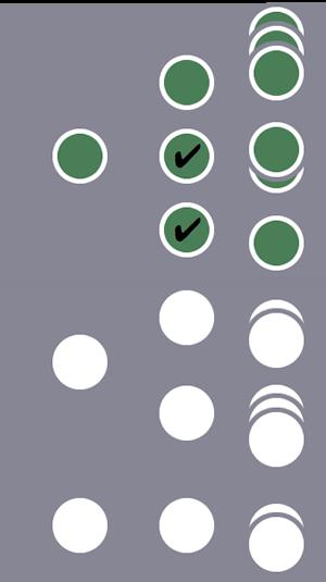 3 位用户中,由于第 1 位用户有 2 个 会话满足会话级条件,此用户及其所有会话都包含在细分中。其他 2 位用户的会话被排除在外。
