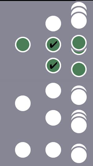 В сегмент включается второй из трех пользователей и все его сеансы (совпадение двух условий на уровне сеанса). Сеансы остальных двух пользователей отбрасываются.