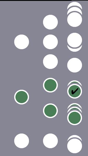 3 人のユーザーのうち、2 番目のユーザーとその全セッションがセグメントに含まれます(1 つのヒットレベルの条件に一致したため)。他の 2 人のユーザーのセッションは除外されます。