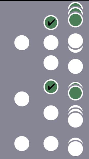 3 人のユーザーのうち、1 番目と 2 番目のユーザーと、それぞれ 1 つのセッションがセグメントに含まれます(セッション レベルの条件に、それぞれ 1 つのセッションが一致したため)。3 番目のユーザーとそのセッションは除外されます。
