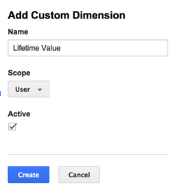 Add custom Dimension with scope set to user.