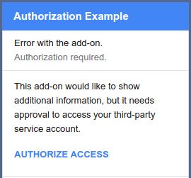 non-Google service authorization card