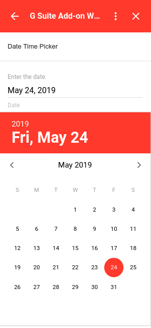 date picker selection example