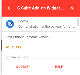 Fixed footer widget example