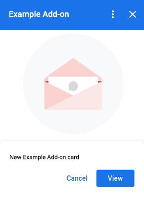 Peek card example