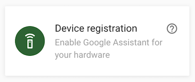 Device registration