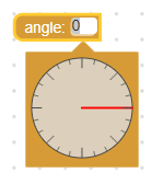 Angle picker with default editor size