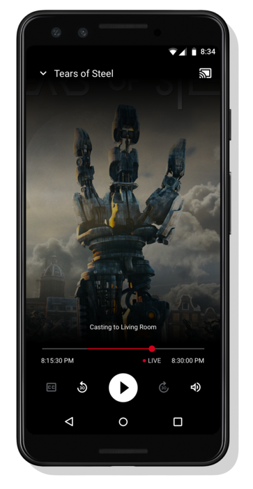 A mobile phone showing the Live UI for Scenario 8 with Clock Time