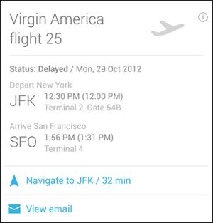 Flight Details Confirmation Card
