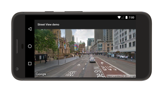 Street View panorama demo