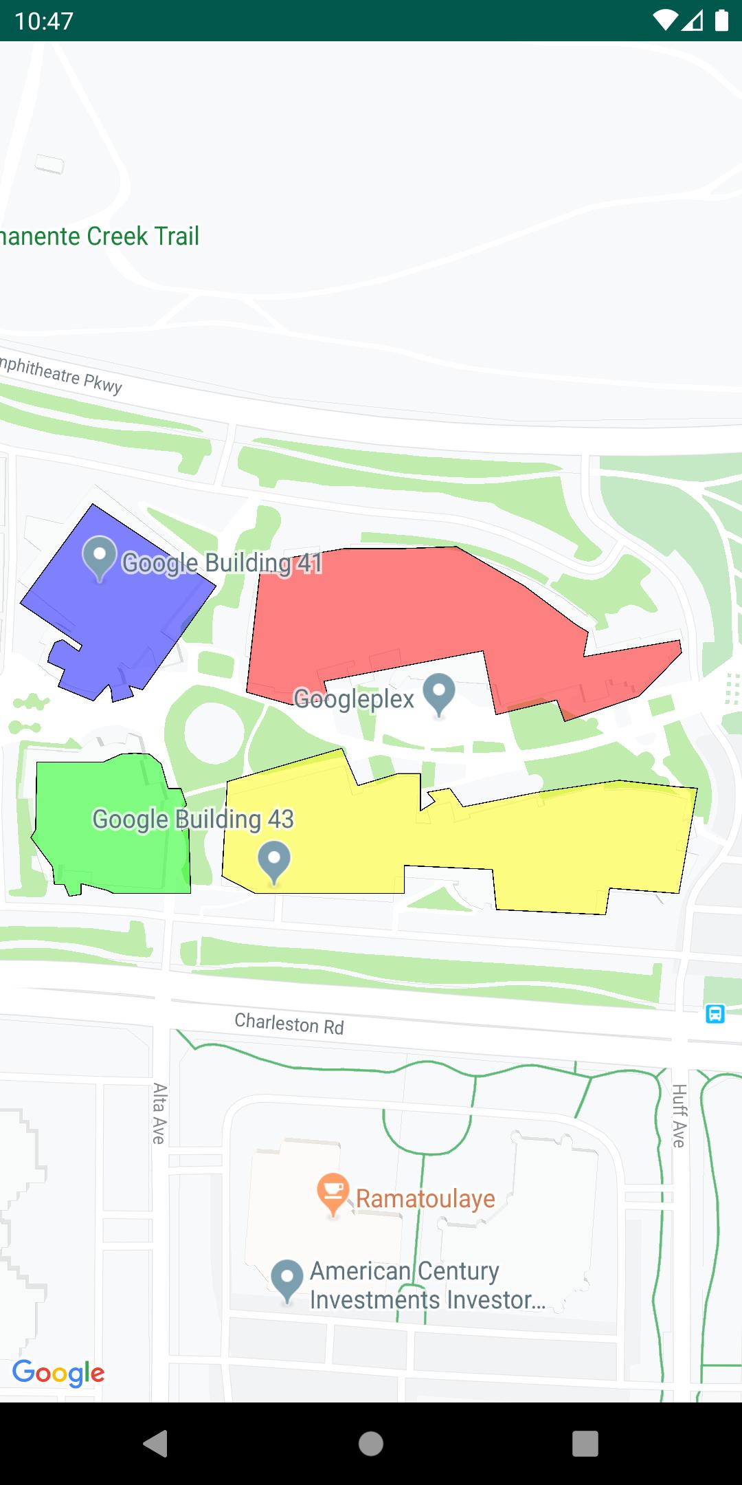 Eine Karte mit einer KML-Ebene