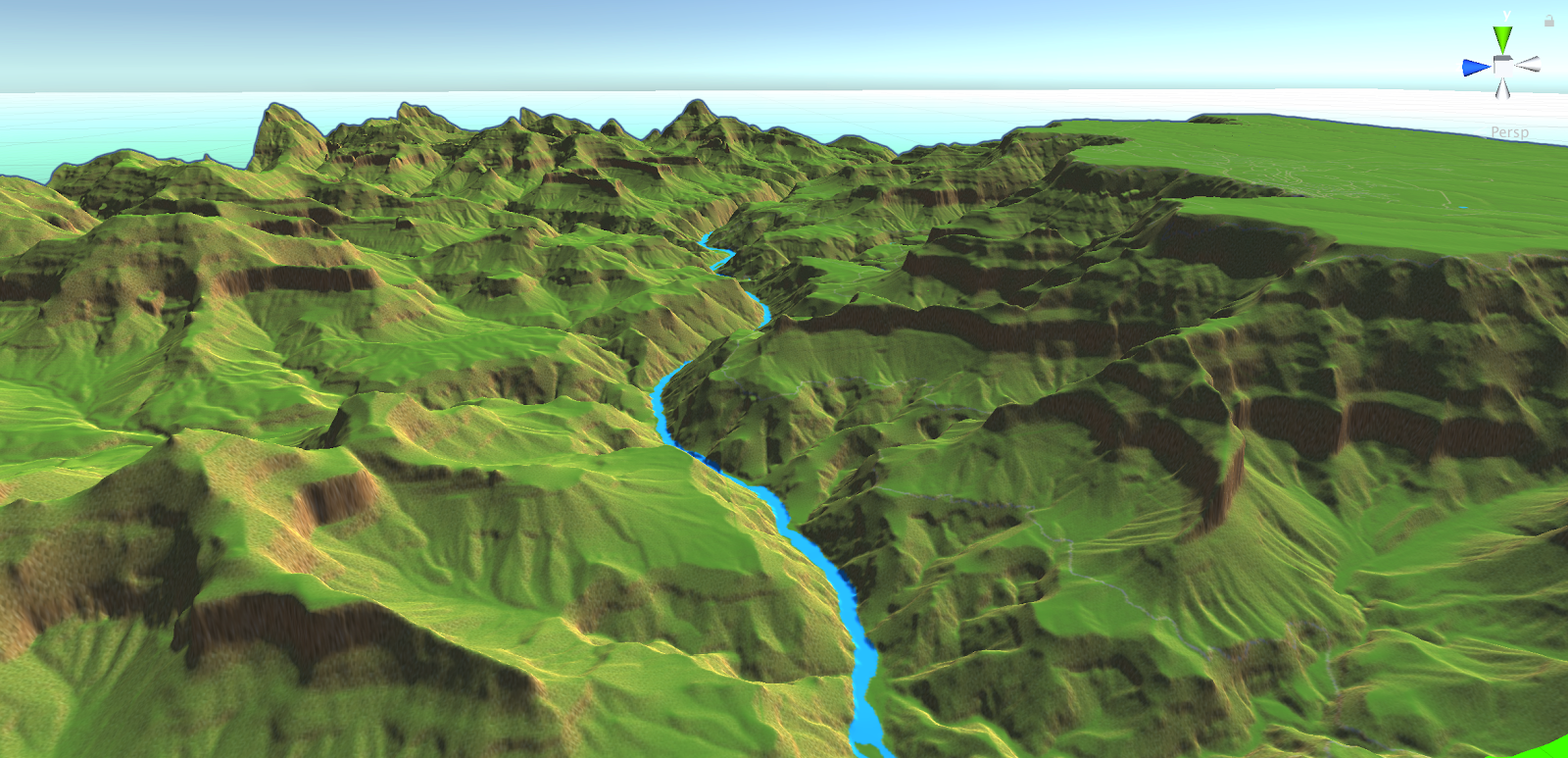 A Terrain Elevation image of the Grand Canyon