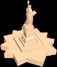 The Modeled Statue of Liberty