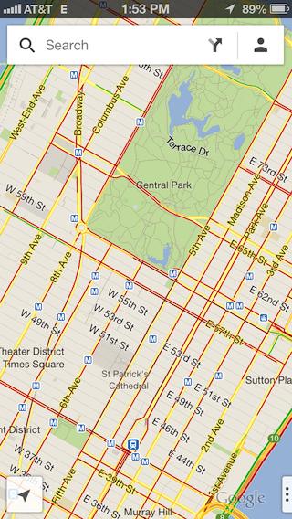 Mapa de trânsito de Nova York
