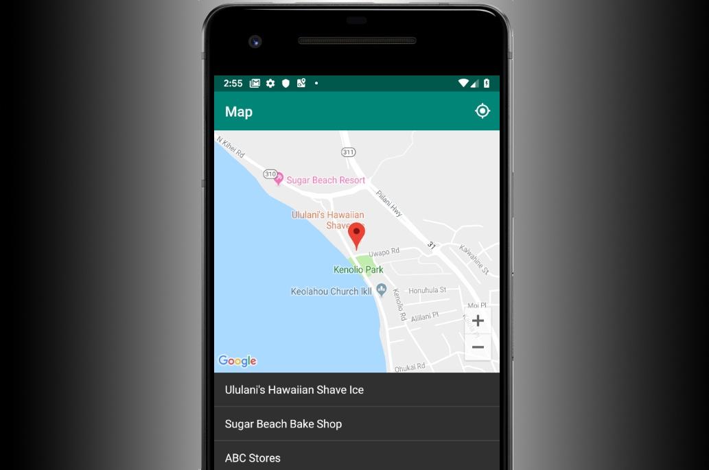Codelab: criar um seletor do seu lugar atual no Android