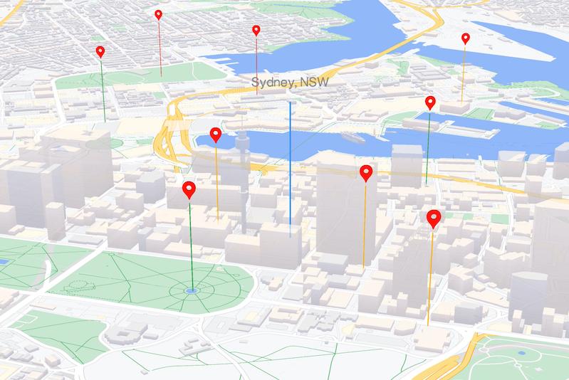Elementos del mapa con tecnología WebGL: JavaScript