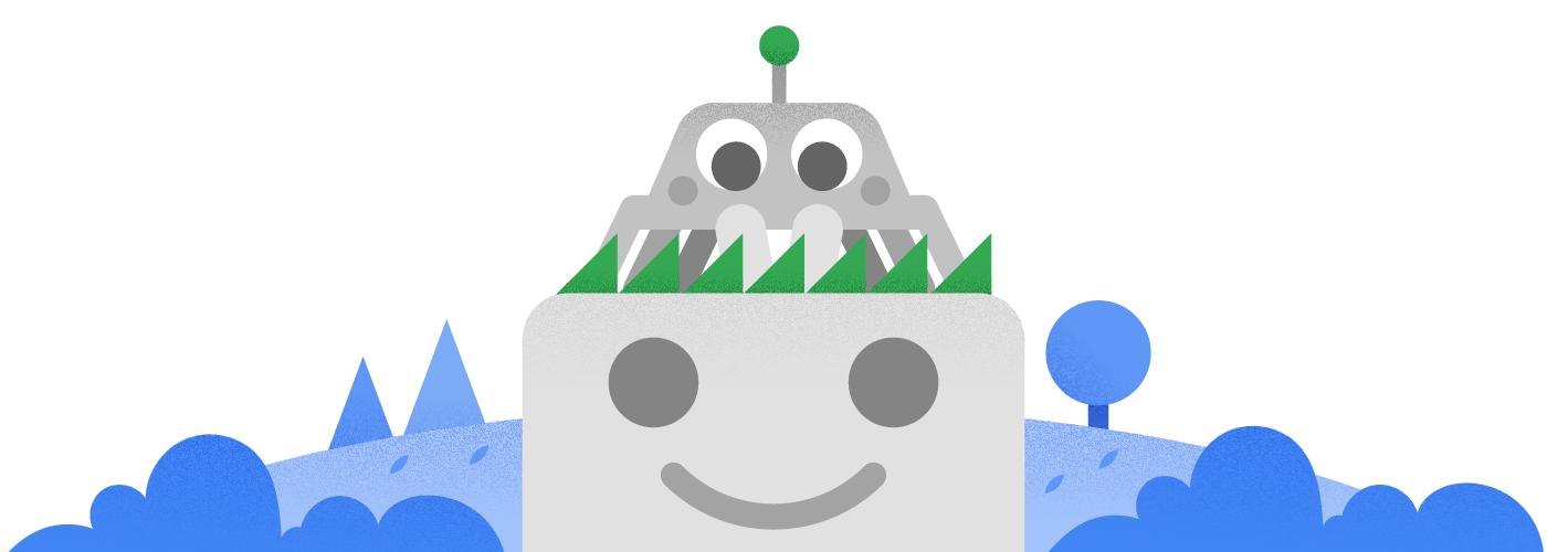 Обновленный талисман робота Googlebot