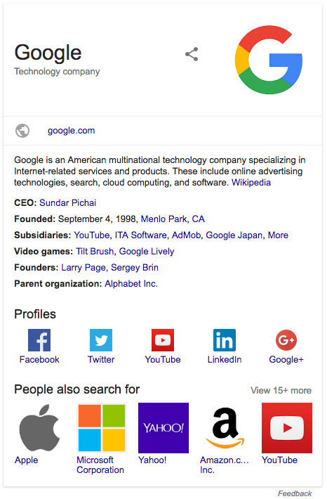 logo example in search results