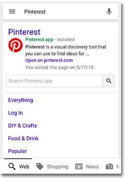 sitelink searchbox example in search results