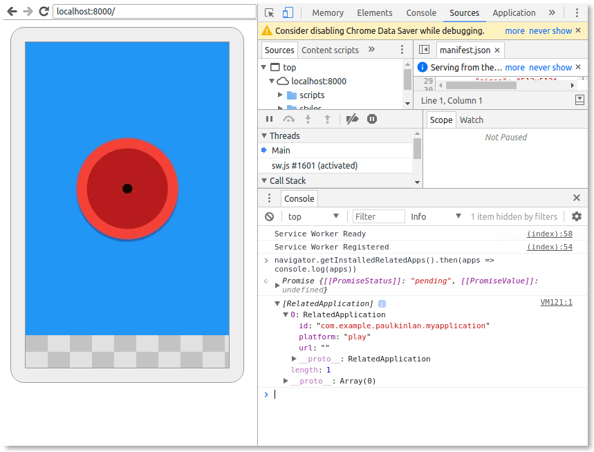 Related Apps in Devtools
